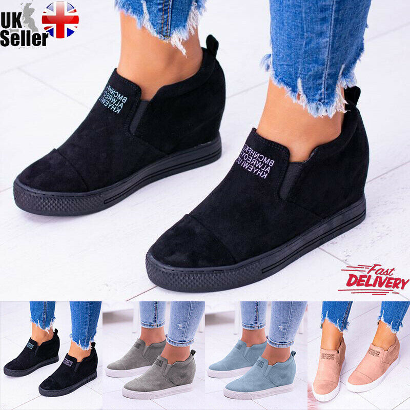 UK Girls Leather Slip On Flat Loafers Pumps Moccasins Kids Casual Trainers Shoes