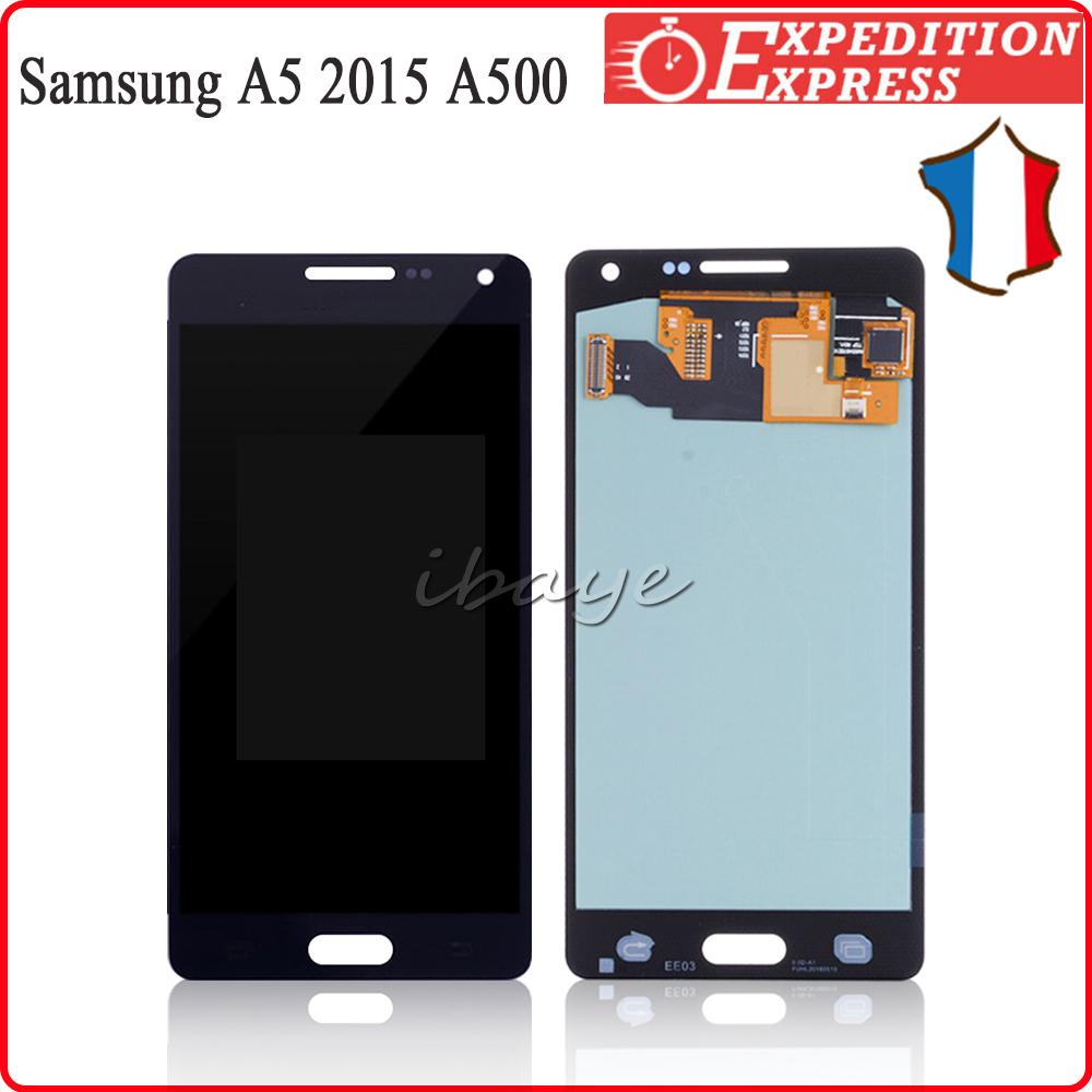Ecran LCD Tactile Pour Samsung Galaxy A5 A500 2015 A500F A500M SM-A500FU Noir