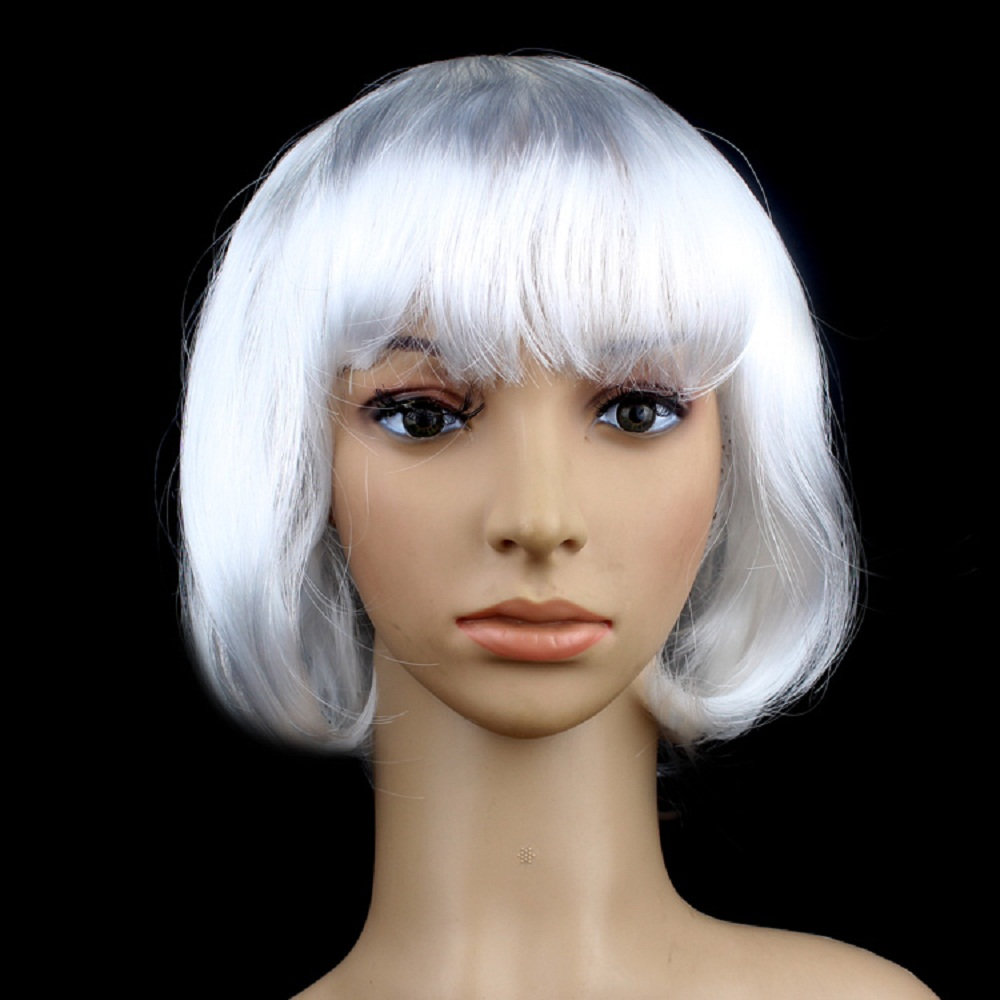 15 Colors Women Lady Short Straight Hair Full Wigs Cosplay ...