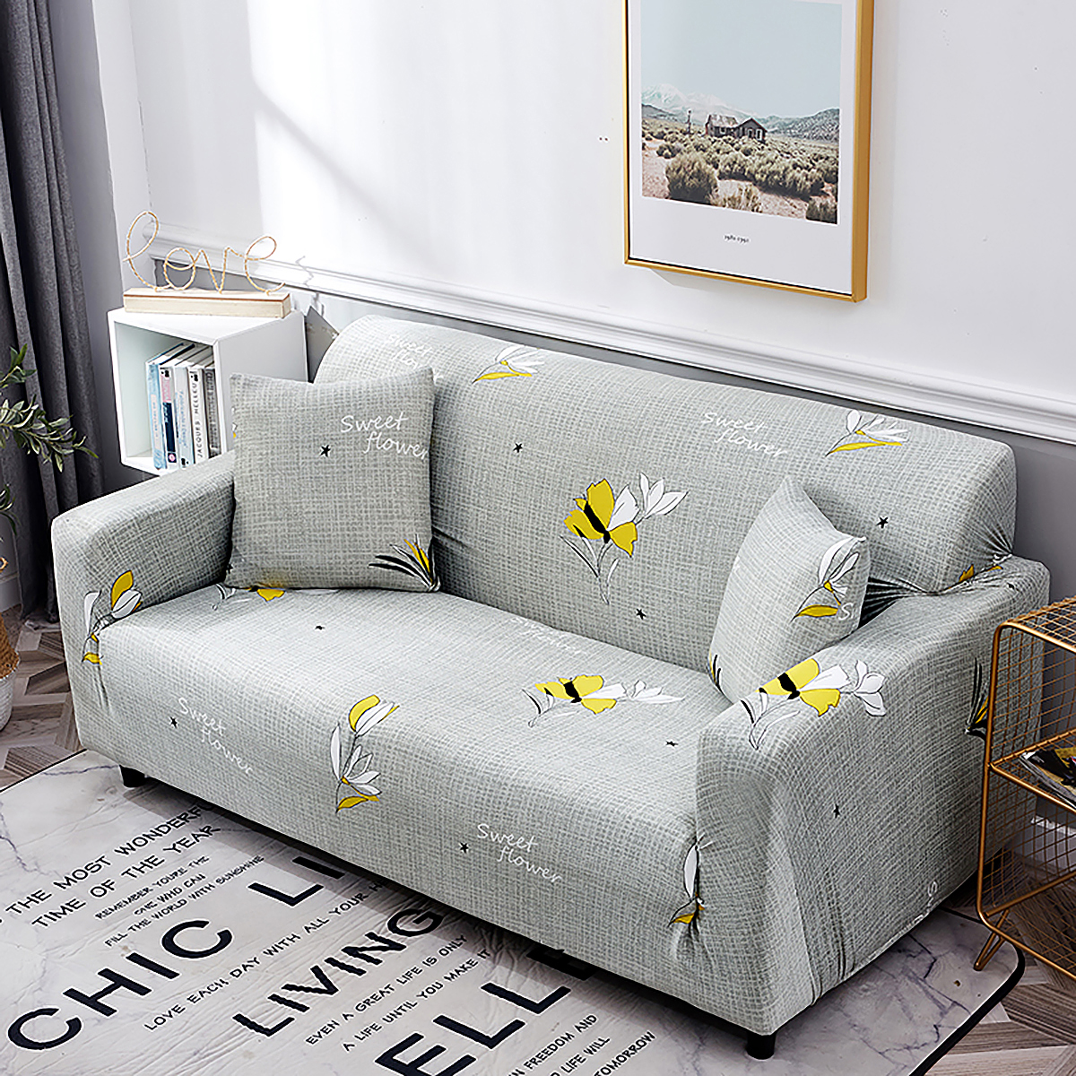 1-2-3-4-SEATER-SOFA-COVERS-Elastic-Fabric-Loveseat-Couch-Settee-Slipcover miniatuur 14