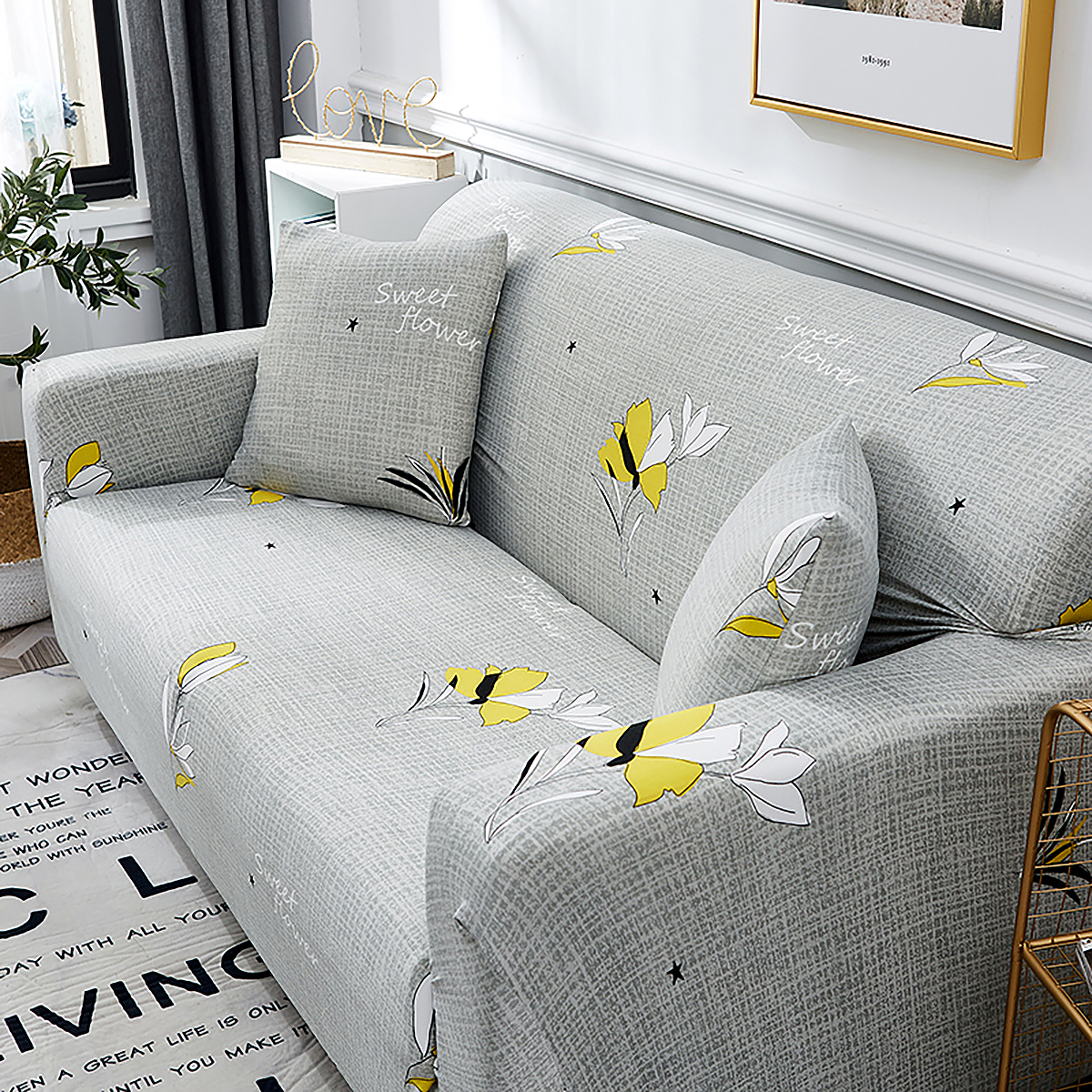 1-2-3-4-SEATER-SOFA-COVERS-Elastic-Fabric-Loveseat-Couch-Settee-Slipcover miniatuur 15