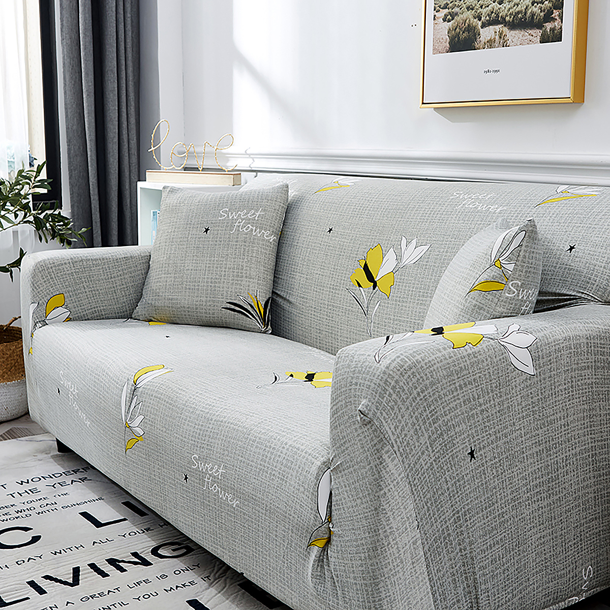 1-2-3-4-SEATER-SOFA-COVERS-Elastic-Fabric-Loveseat-Couch-Settee-Slipcover miniatuur 16