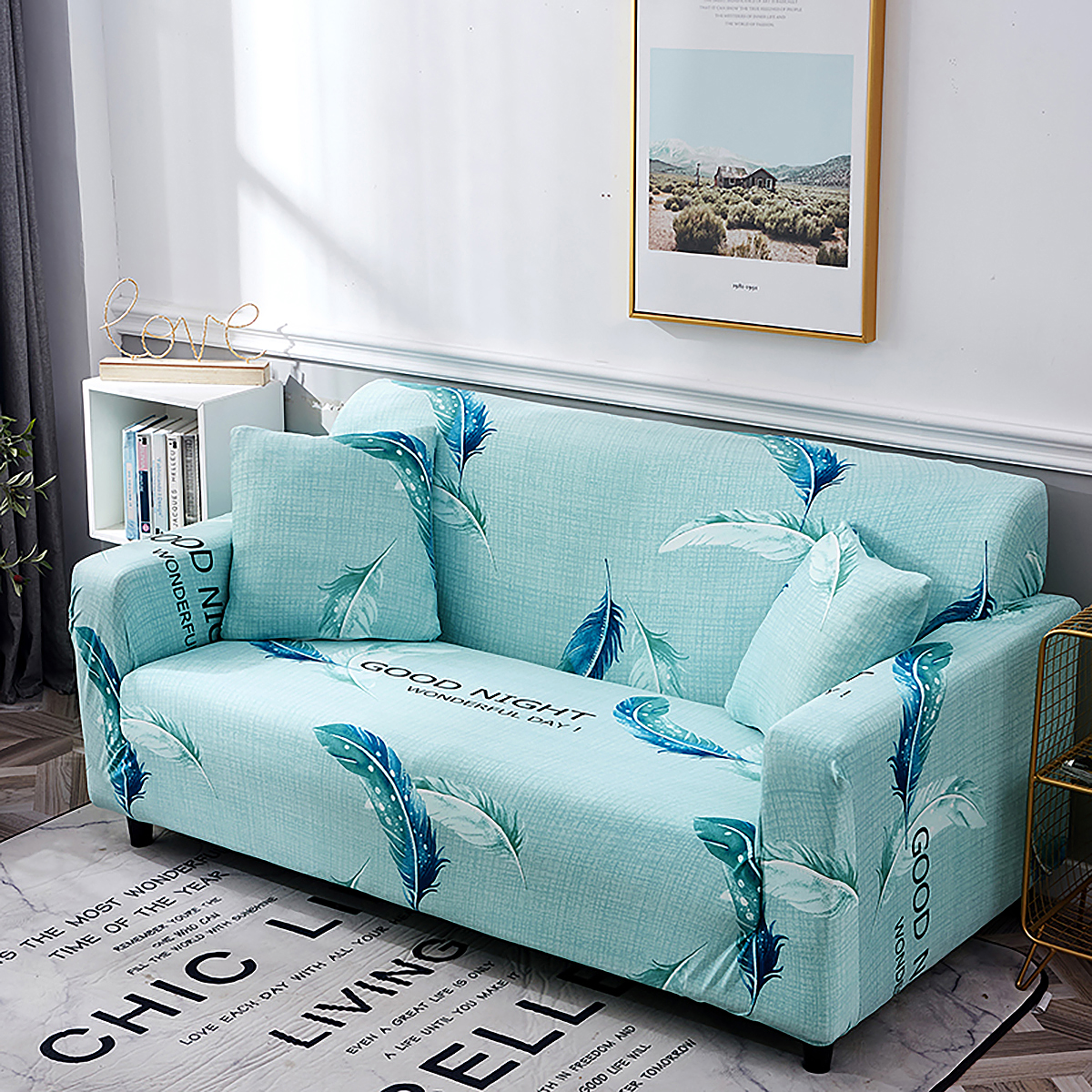 1-2-3-4-SEATER-SOFA-COVERS-Elastic-Fabric-Loveseat-Couch-Settee-Slipcover miniatuur 44