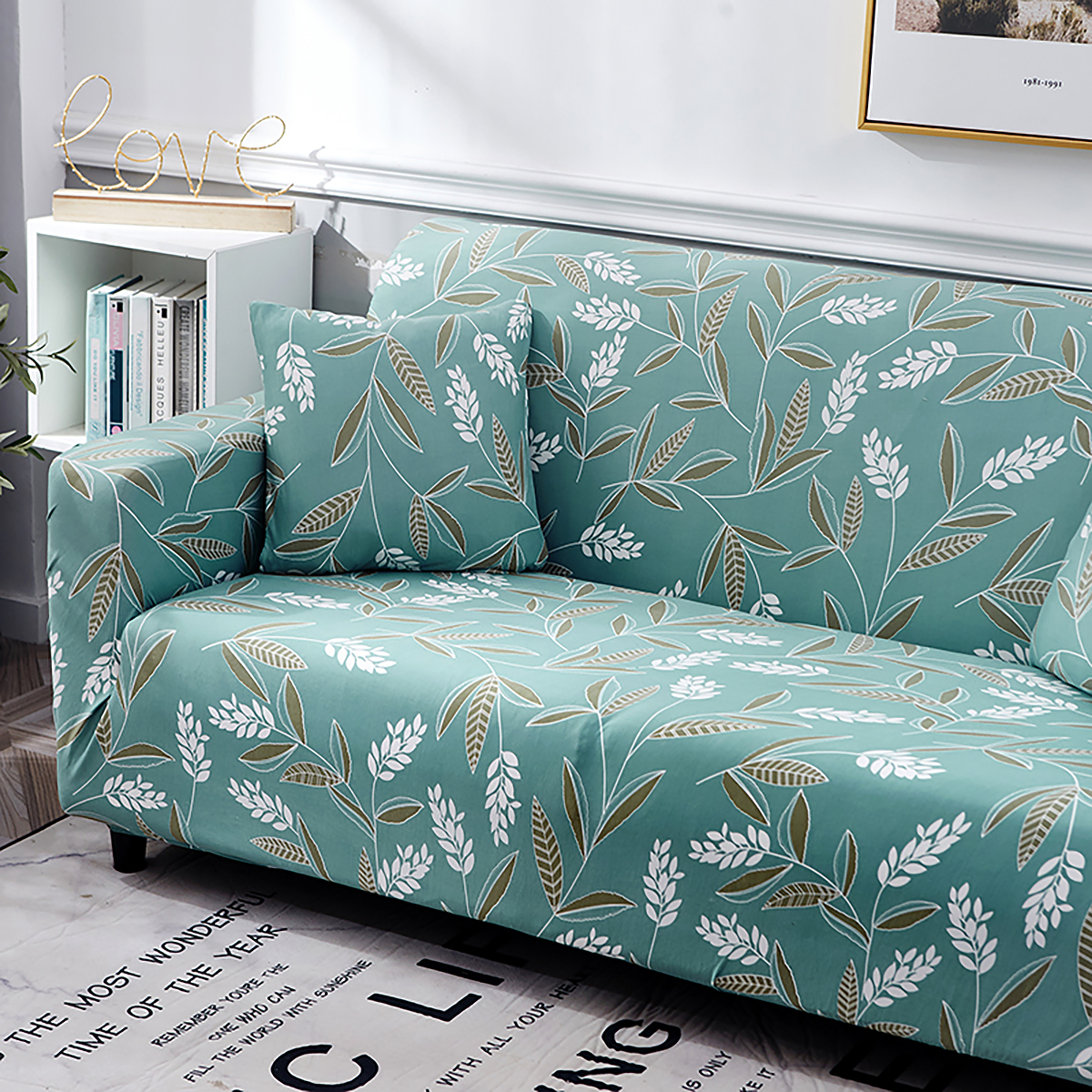 1-2-3-4-SEATER-SOFA-COVERS-Elastic-Fabric-Loveseat-Couch-Settee-Slipcover miniatuur 55