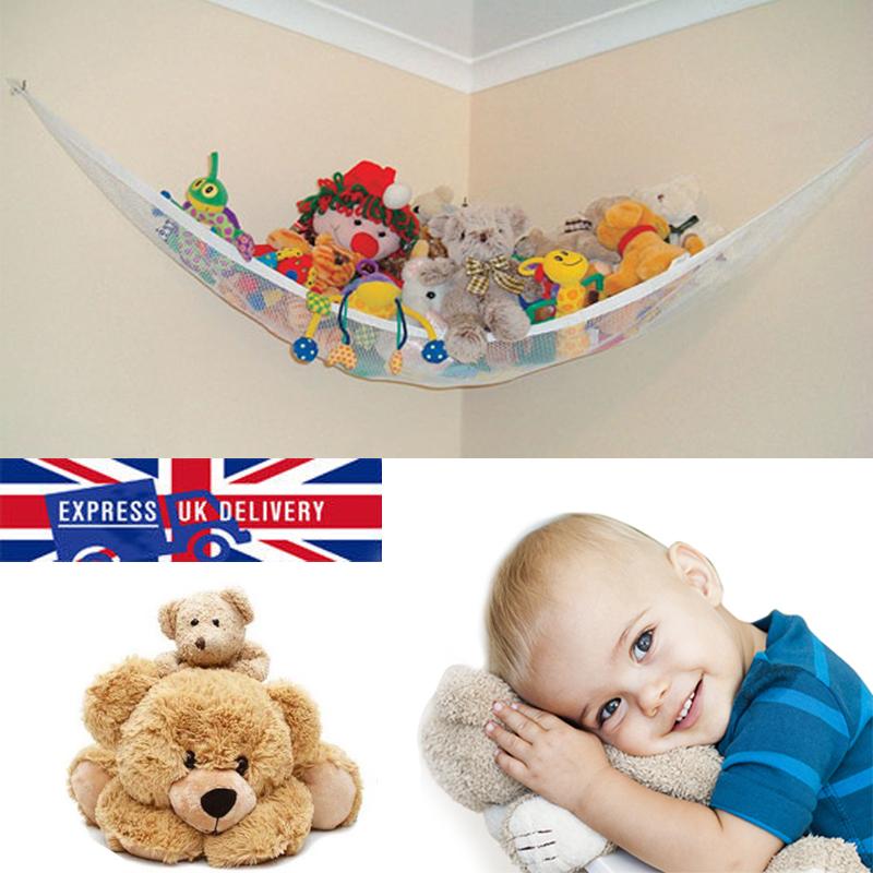 Uk Toy Soft Teddy Hammock Mesh Baby Kids Childs Bedroom