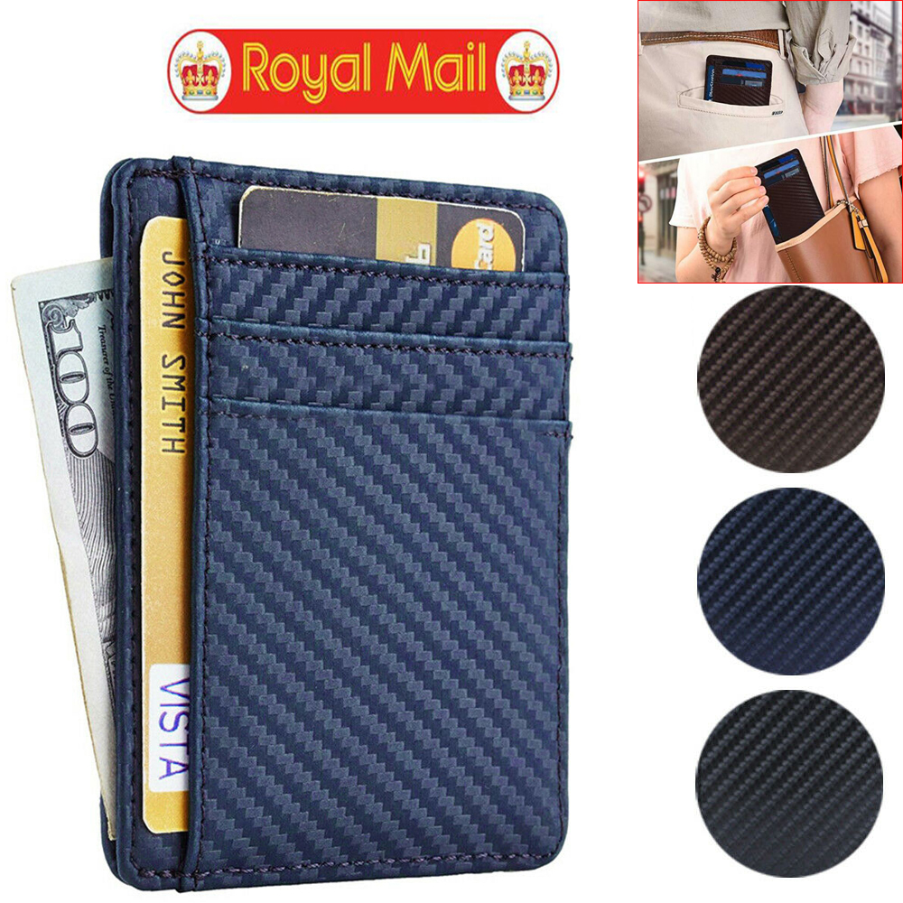 04511819c6ea Details about Ultra Thin Mens Wallet Credit Card Holder Money ID Case PU  Leather Purse Slim