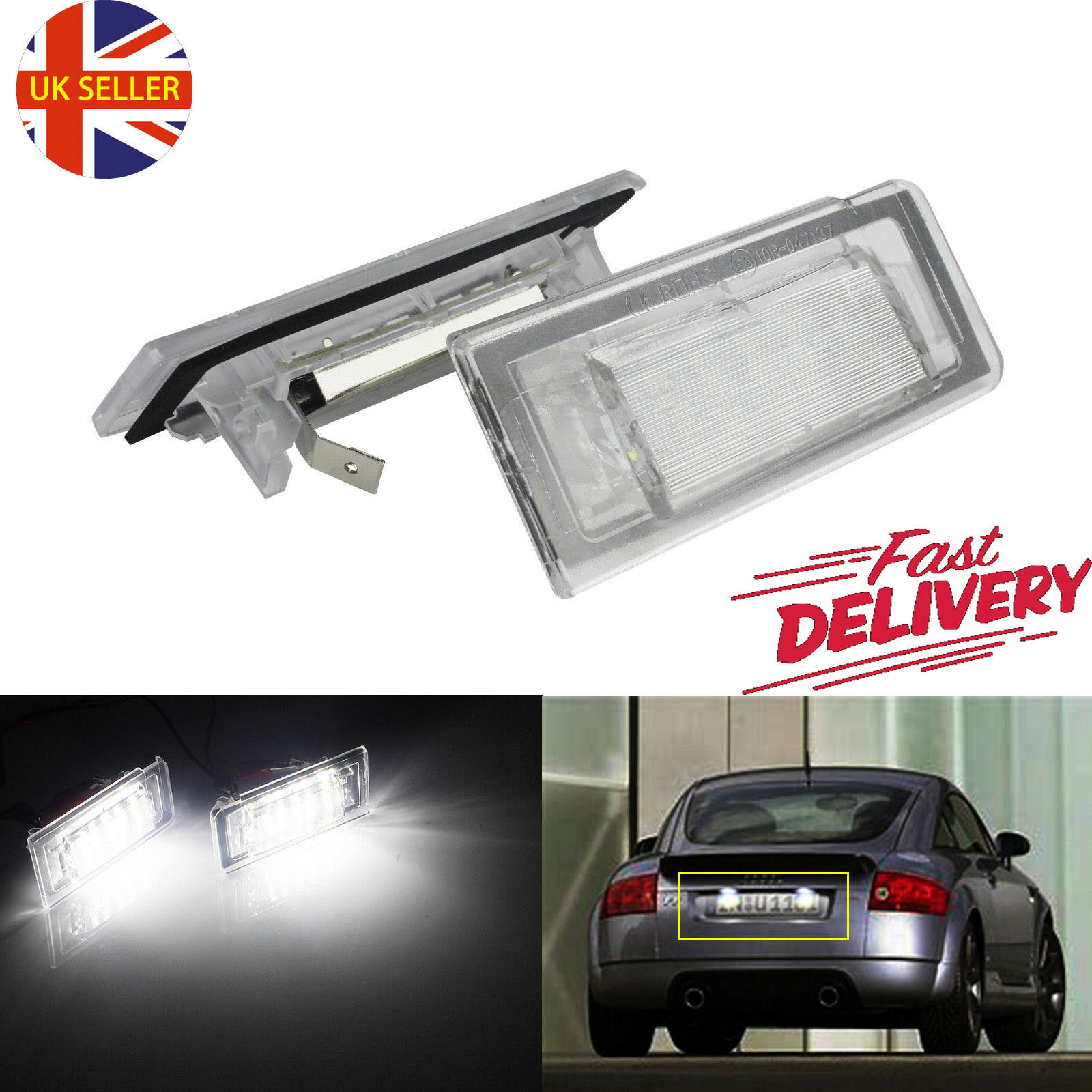 Xenon LED License Number Plate Light Lamp Canbus For Audi TT Mk1 8N 1999-2006 UK