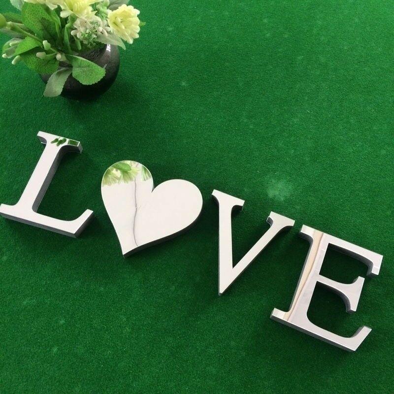 1set-3D-Love-Home-Briefe-Acryl-Spiegel-Wandaufkleber-DIY-Art-Mural-Zuhause-Dekor Indexbild 3