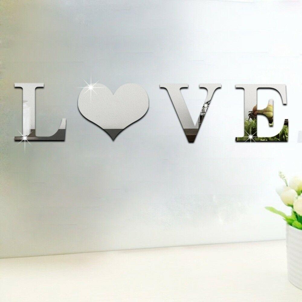 1set-3D-Love-Home-Briefe-Acryl-Spiegel-Wandaufkleber-DIY-Art-Mural-Zuhause-Dekor Indexbild 6