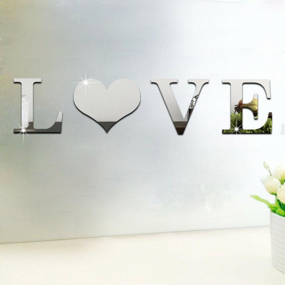 1set-3D-Love-Home-Briefe-Acryl-Spiegel-Wandaufkleber-DIY-Art-Mural-Zuhause-Dekor Indexbild 7