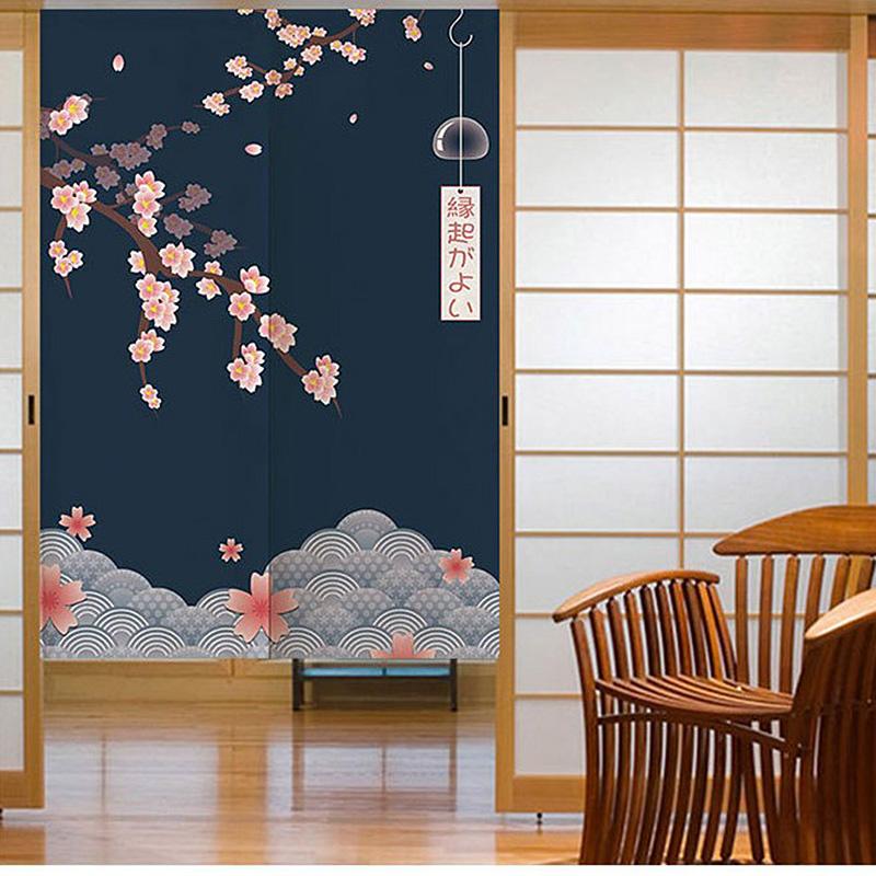 Japanischer-Noren-Tueroeffnung-Vorhang-Getrennt-Tapisserie-Taverne-Restaurant-Kuech Indexbild 9