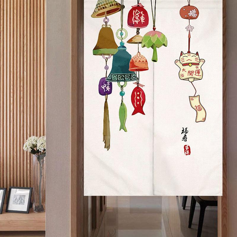 Japanischer-Noren-Tueroeffnung-Vorhang-Getrennt-Tapisserie-Taverne-Restaurant-Kuech Indexbild 16