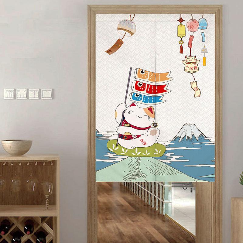 Japanischer-Noren-Tueroeffnung-Vorhang-Getrennt-Tapisserie-Taverne-Restaurant-Kuech Indexbild 17