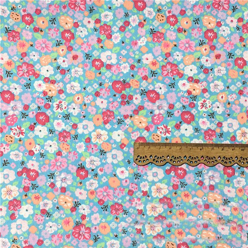 Blau-Blumig-Strip-Twill-Stoff-Patchwork-100-Baumwolle-Kissen-Quilting-Kleidung Indexbild 11