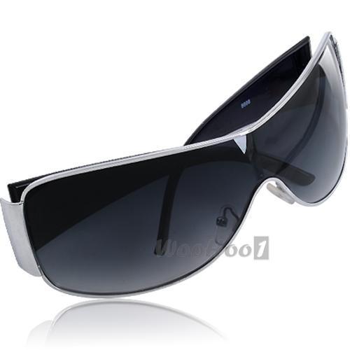 Schwarz Modern Verspiegelt Sonnenbrille Sport UV400 Schutz Brille Sportbrille GEbPC9l