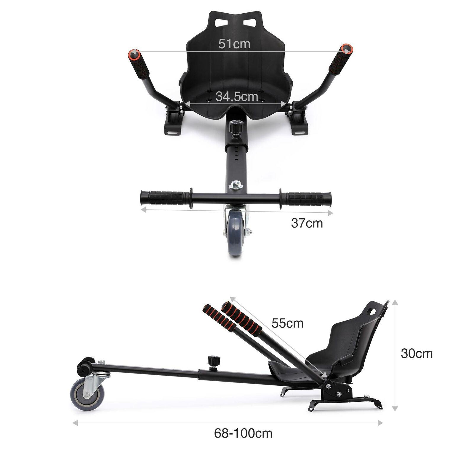 Adjustable Hoverkart Go Kart For Segway Swegway Hoverboard scooter Kids /& Childs