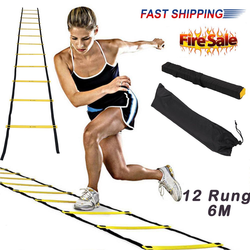 1Pc Durable 6M Speed Mens Agility Fitness Ladder Footwork