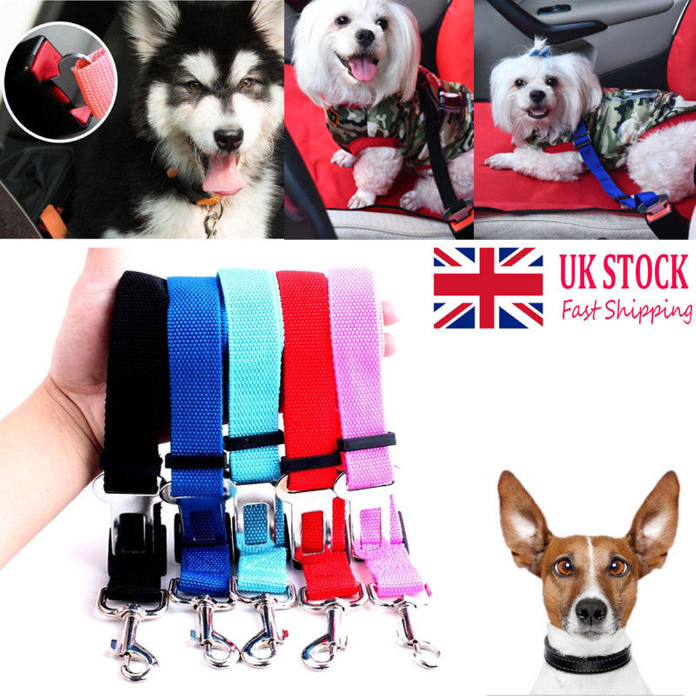 Pet Dog Car Seat Belt Lead Clip Safety Harness Restraint Van Journey Travel UK