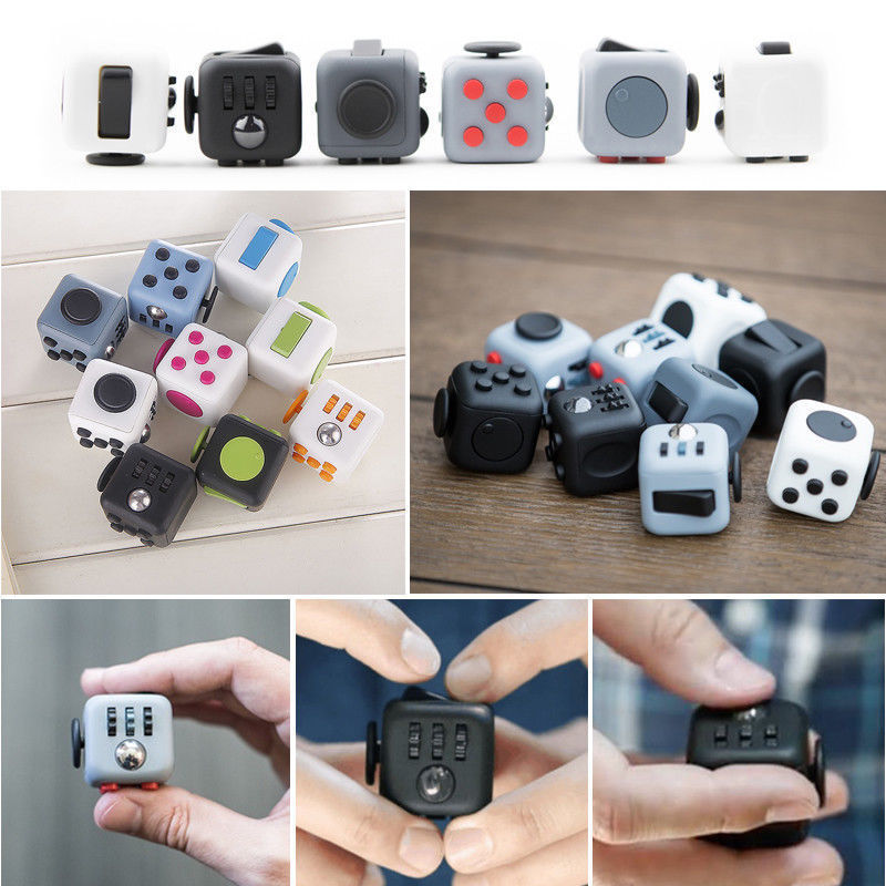 UK Fidget Toy Cube Stress Anxiety Relief Toy EDC 6 Sided ...
