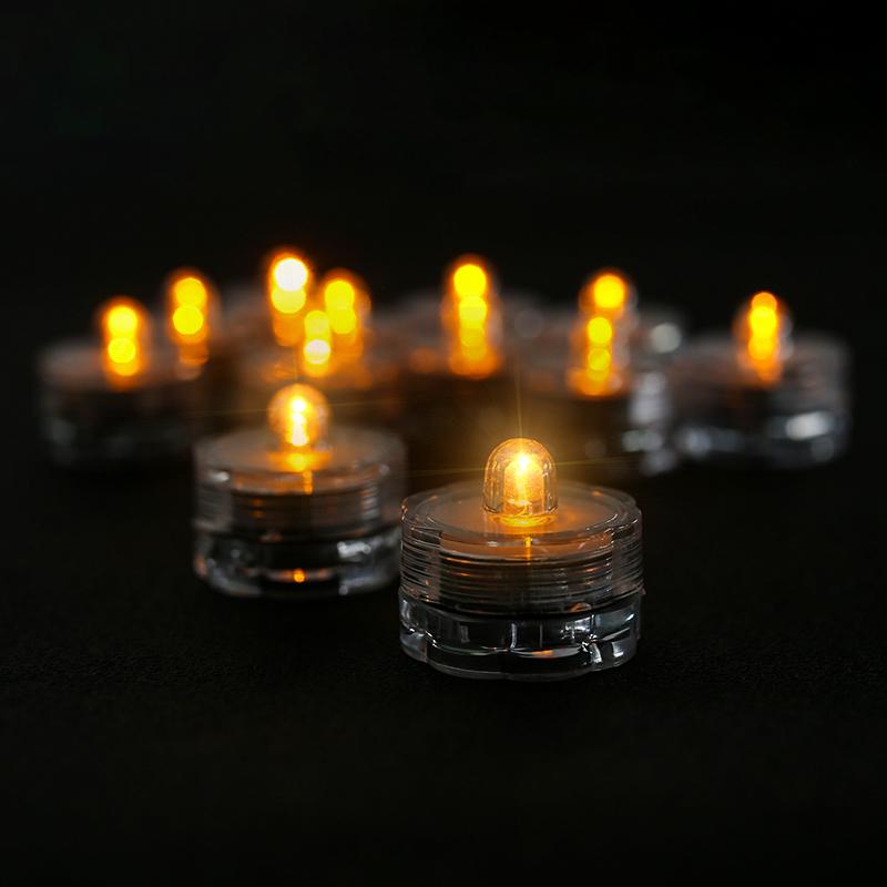 12tlg LED Wasserdicht Unterwasser Teelichter Kerzen Schwimmkerze Batterie DE