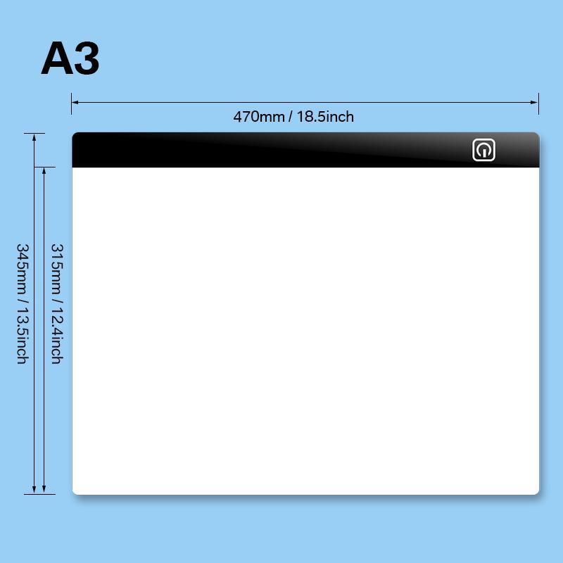 A3-A4-USB-LED-Caja-de-Luz-Tattoo-Artist-Plantilla-Tablero-Mesa-Dibujo-Trazos miniatura 18