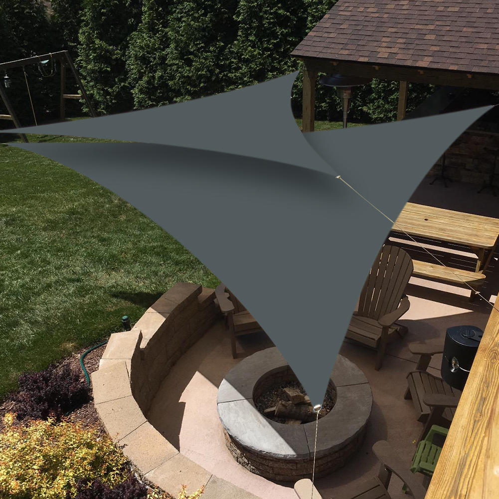 miniatura 16 - Tenda vela TRIANGOLARE ombreggiante telo sole ombra giardino PARASOLE 2 3.6 5mt