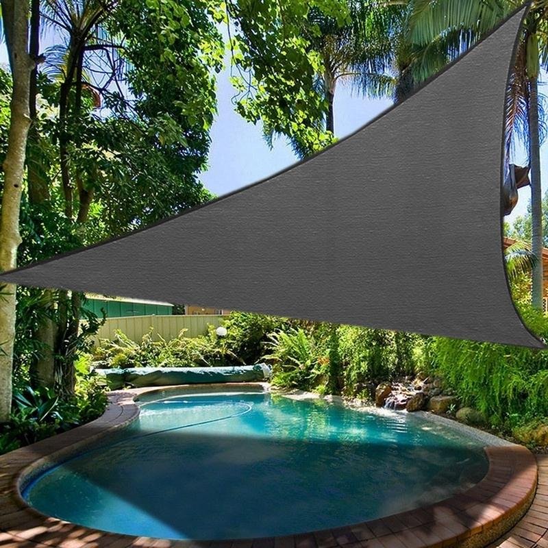 miniatura 18 - Tenda vela TRIANGOLARE ombreggiante telo sole ombra giardino PARASOLE 2 3.6 5mt