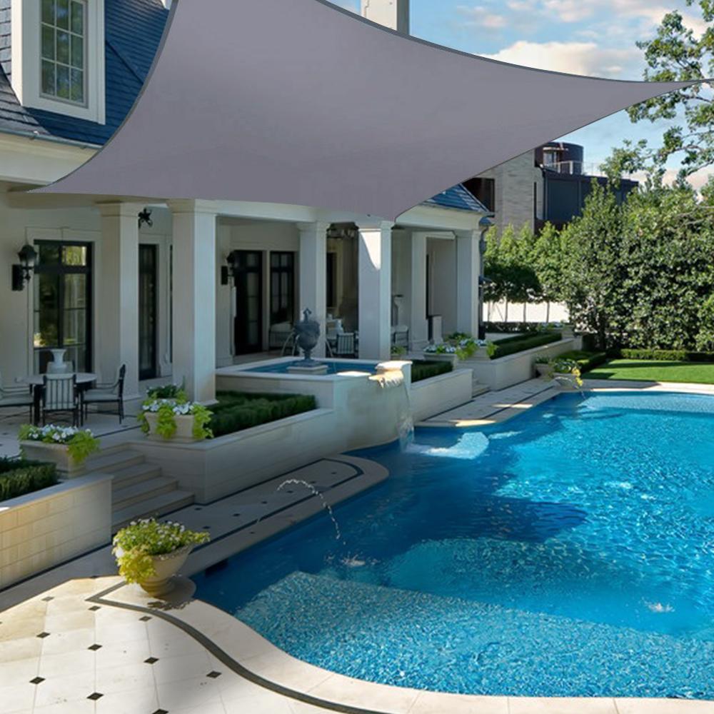 miniatura 30 - Tenda vela TRIANGOLARE ombreggiante telo sole ombra giardino PARASOLE 2 3.6 5mt