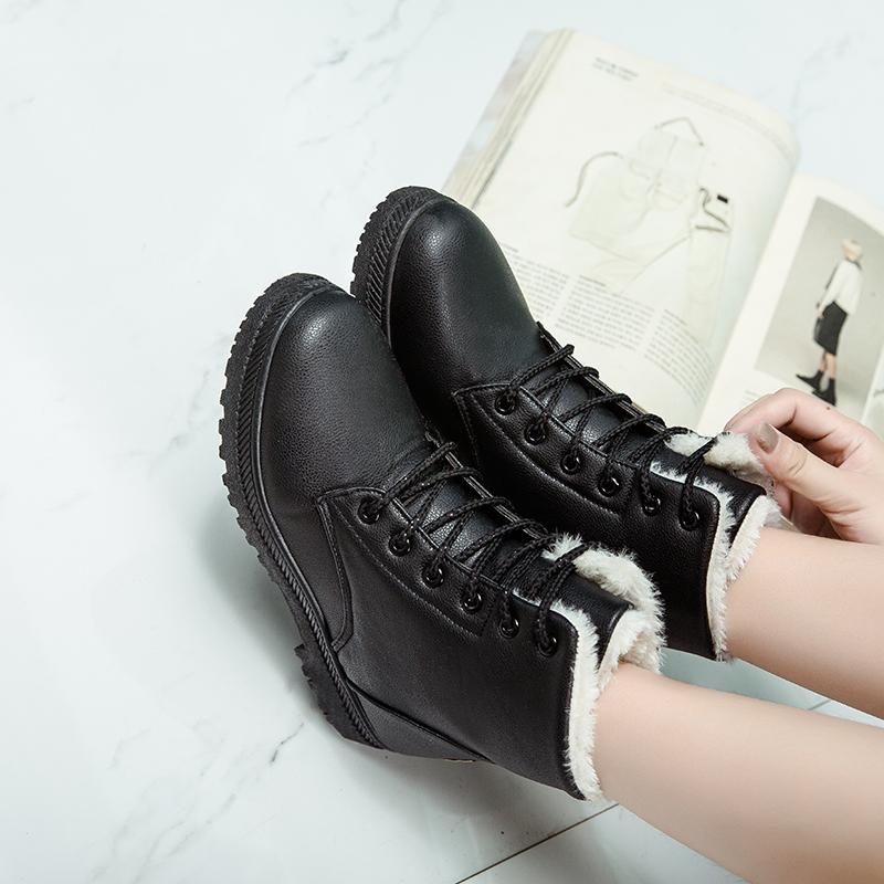 Damen Stiefeletten Schneeschuhe Wasserdicht Stiefel Gefüttert Thermo Worker Boot | eBay