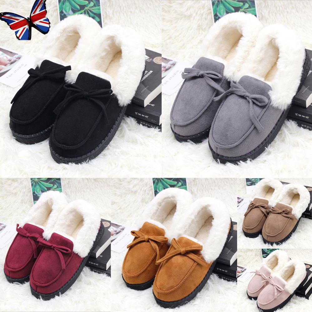 USA Girls Kids Toddler Warm Fur Lined Moccasin Shoes Loafer Slip On Softwear