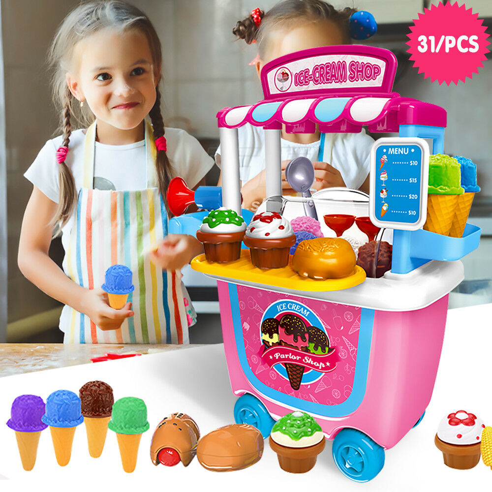 Kids Kitchen Play Toys Girls Role Play Pretend Cook Toy ...