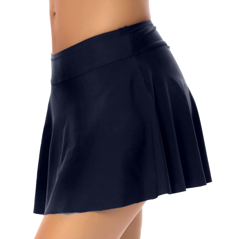 Womens High Waist Swim Skirt Bikini Bottom Swimwear Summer