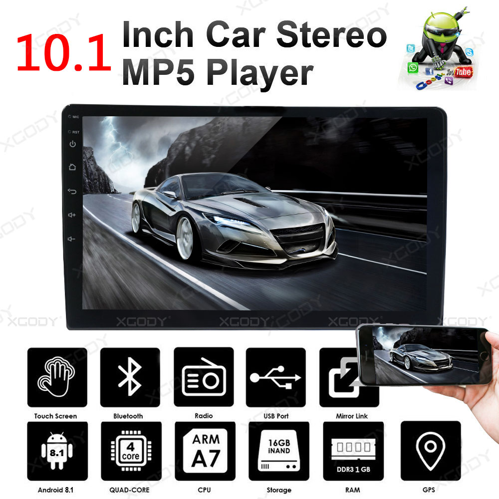 10 1 doppel 2 din android 8 1 autoradio mit gps navi bluetooth wifi quad core ebay. Black Bedroom Furniture Sets. Home Design Ideas