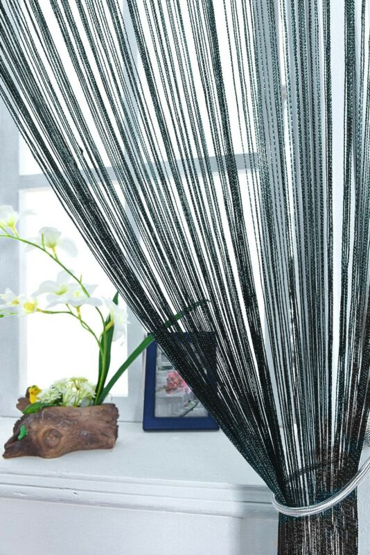Multi Color String Curtain Fringe Panel Room Divider: String Curtains Patio Net Fringe For Door Window Room
