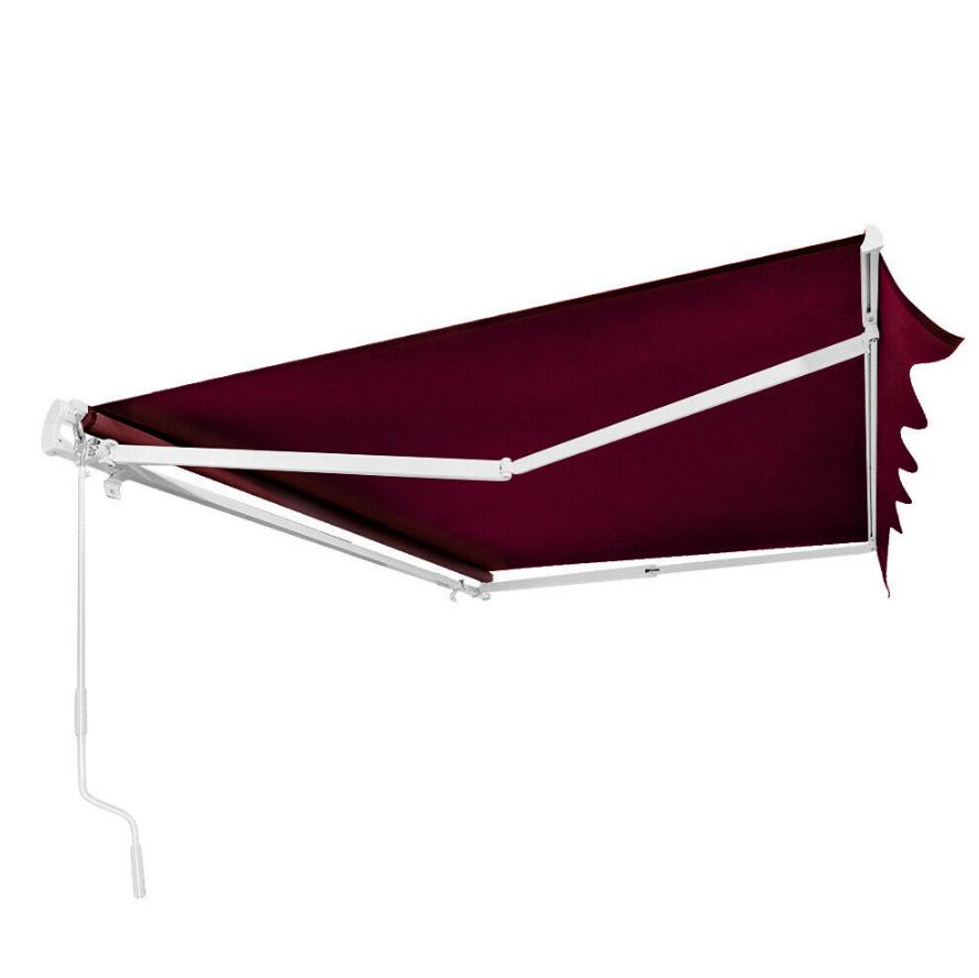 UK Patio Manual Awning Garden Canopy Sun Shade Retractable ...