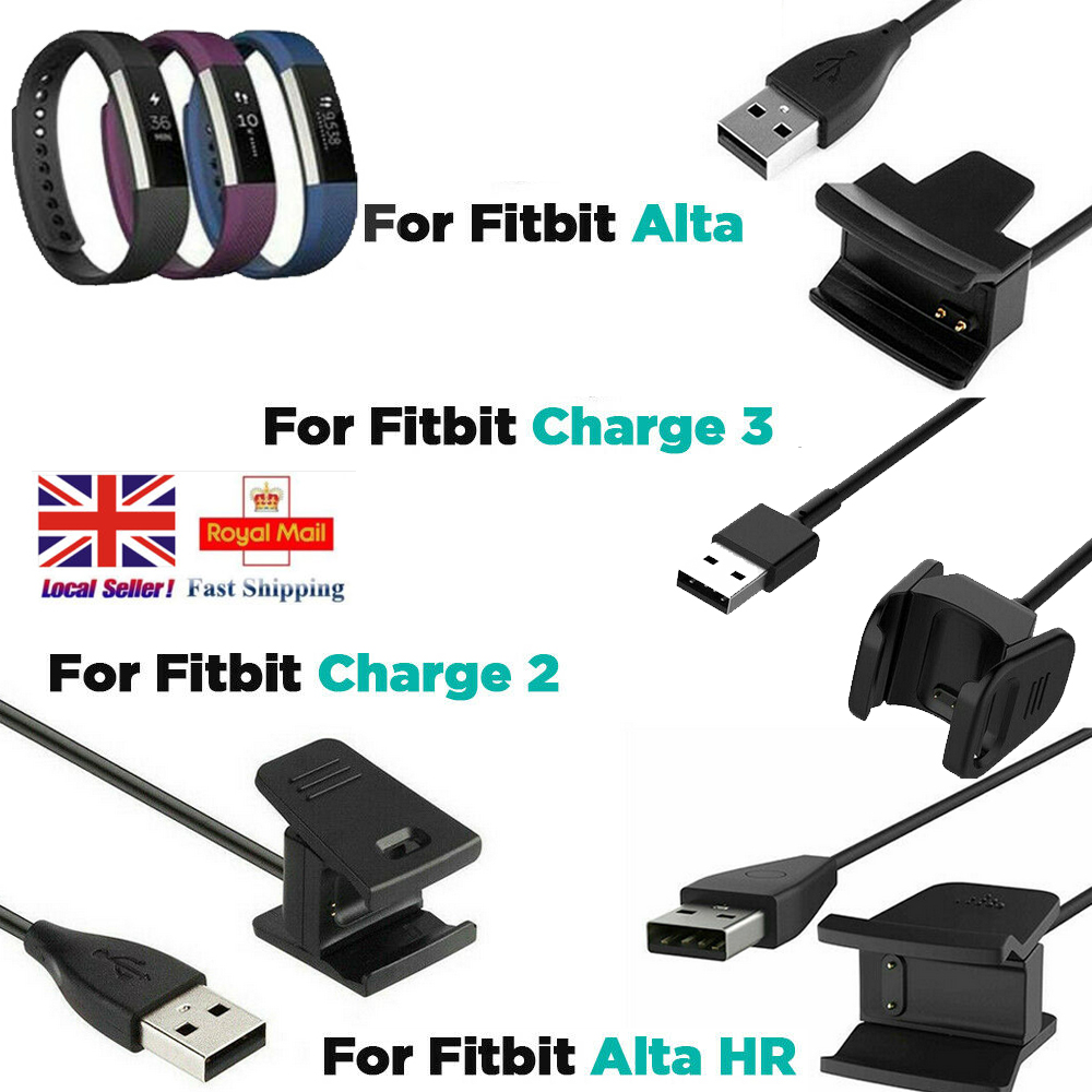 USB Charging Cable For Fitbit Alta Band Bracelet Wristband Charger Lead UK Stock