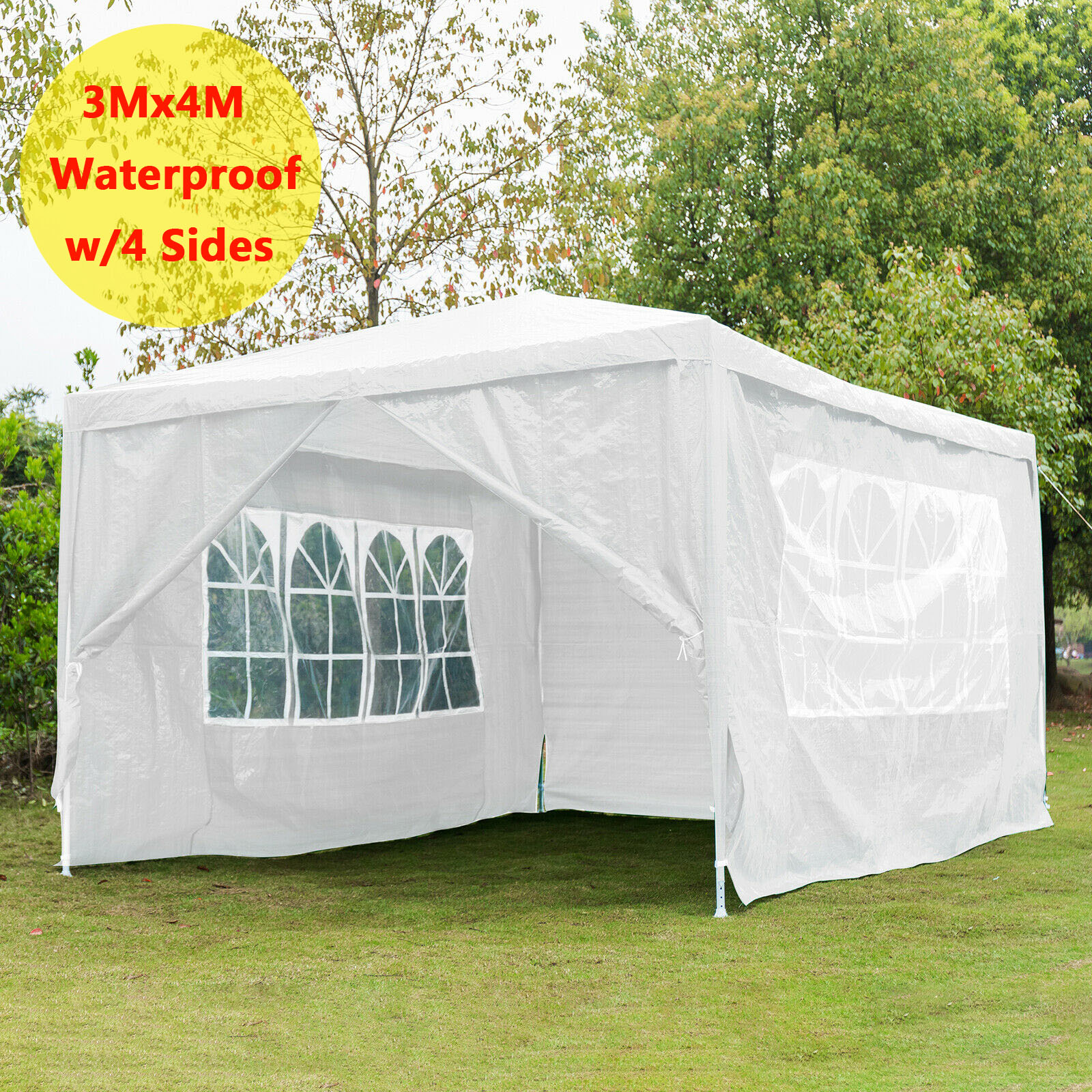 Gazebo Marquee Party Tent With Sides Waterproof Garden Patio Outdoor Canopy UK
