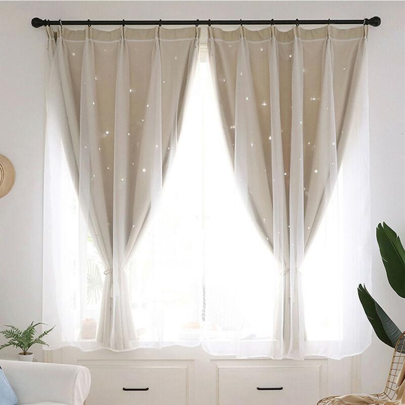 Curtains Drapes Eyelet Hooks Blackout Curtain Mesh Starry Stars Curtains Kids Girls Bedroom Uk Home Furniture Diy Tallergrafico Com Uy