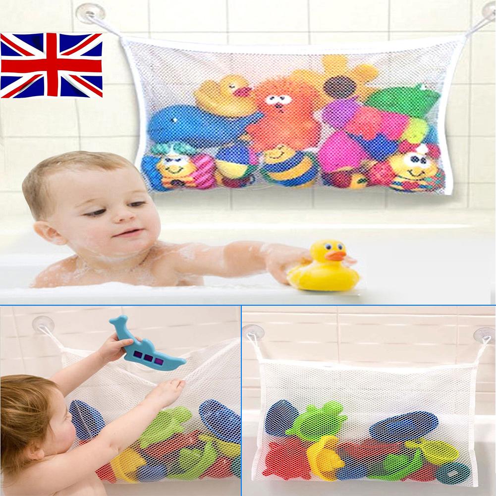 Fashion Baby Bath Bathtub Toy Mesh Net Storage Bag Organizer Holder Bathroom UK Bath Toys Baby Bathing/Grooming