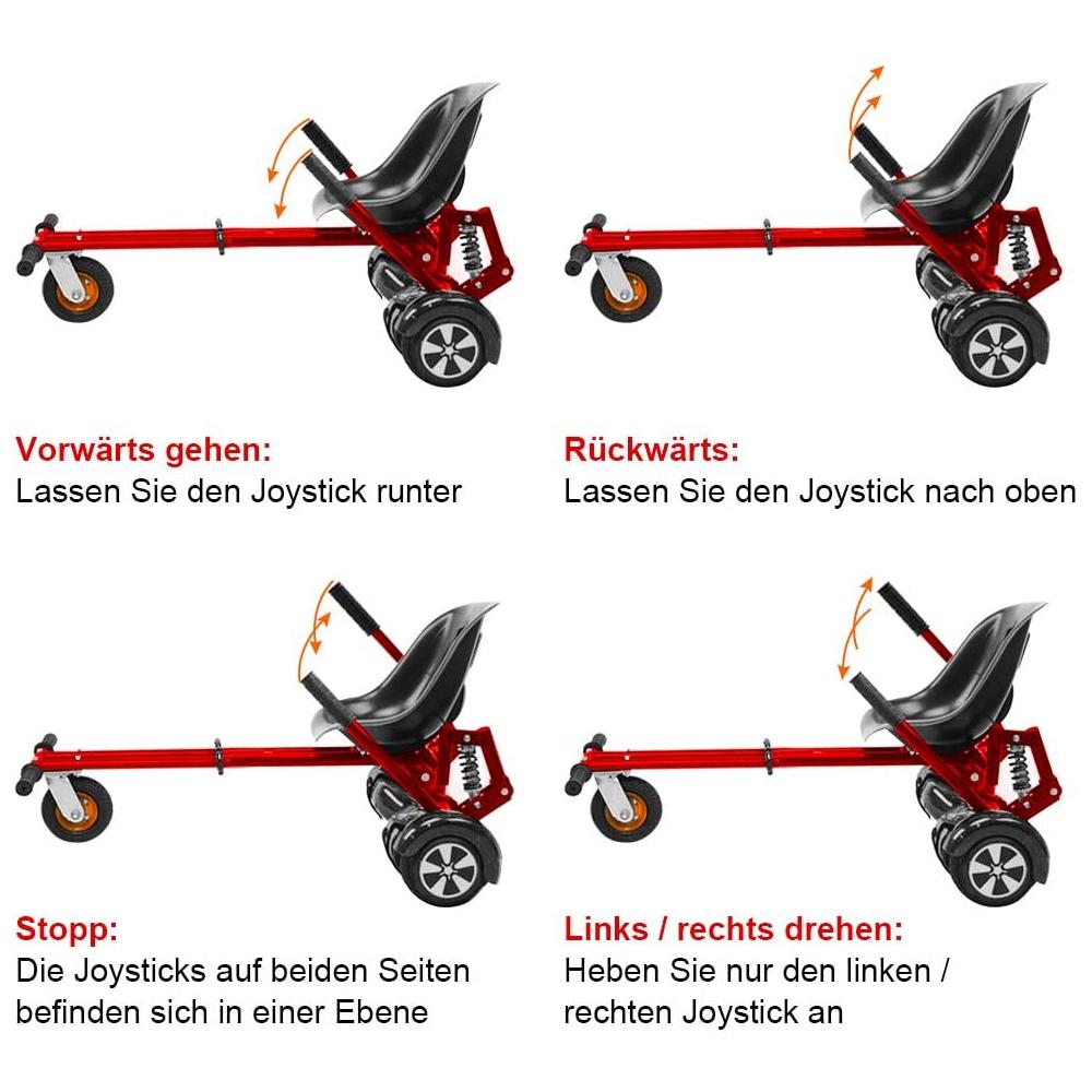 Indexbild 14 - Hoverkart Hoverboard Sitzscooter Dämpfungsfedern Go Kart Hoverseat Kartsitz DE