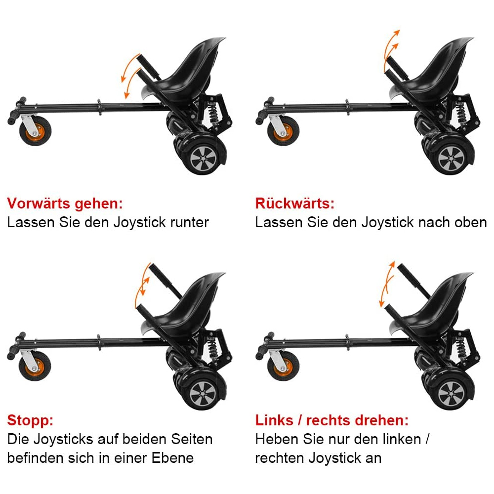 Indexbild 23 - Hoverkart Hoverboard Sitzscooter Dämpfungsfedern Go Kart Hoverseat Kartsitz DE