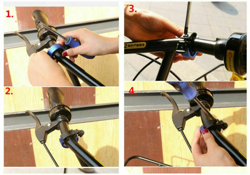 Aluminiumlegierung-Fahrrad-Roller-Bell-Heavy-Duty-MTB-Fahrrad-Lenker-Kit-Glocke miniatura 11