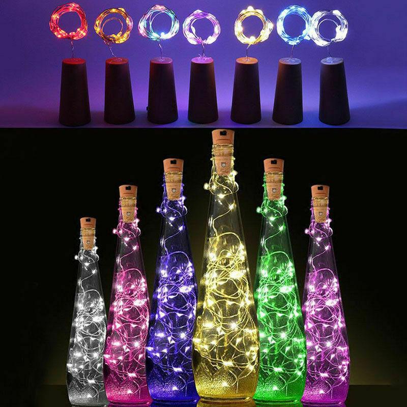 Nachdenklich 1-4 Tlg 20 Led Lichterkette Draht Led Warm &weiß Beleuchtung Flasche Korken Kork üBerlegene Leistung