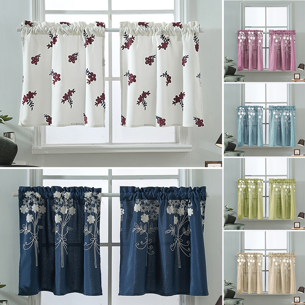 Kitchen Cafe Curtains Bedroom Bathroom