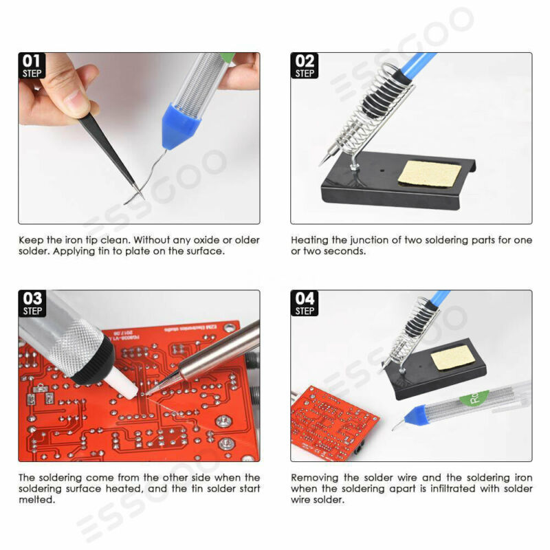 16-in-1-Soldering-Iron-Kit-60W-Adjustable-Temperature-Electronic-Repair-Tool-UK thumbnail 6