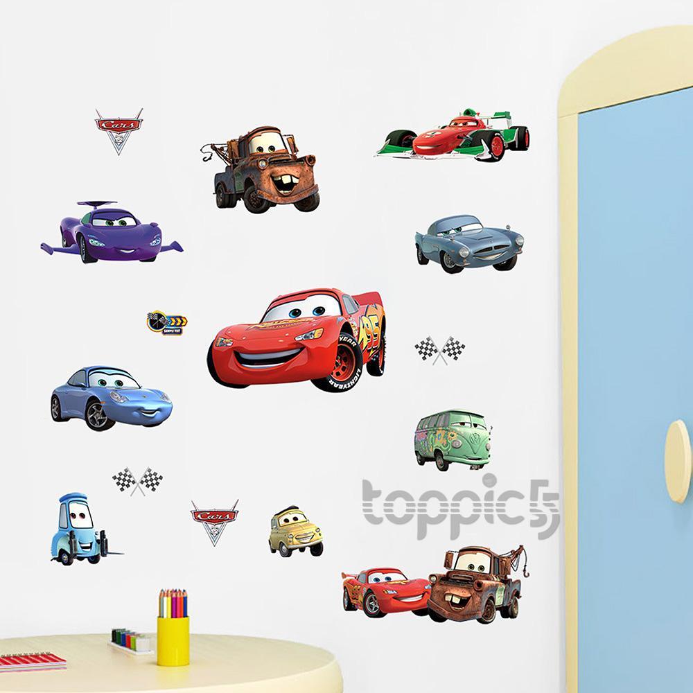 Wasserdicht cars wandaufkleber abnehmbar wandsticker wandtattoo f r kindergarten ebay - Cars wandsticker ...