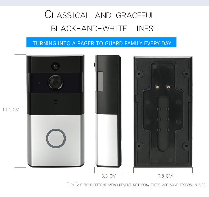 smart kabellos wifi video hd kamera t rklingel. Black Bedroom Furniture Sets. Home Design Ideas