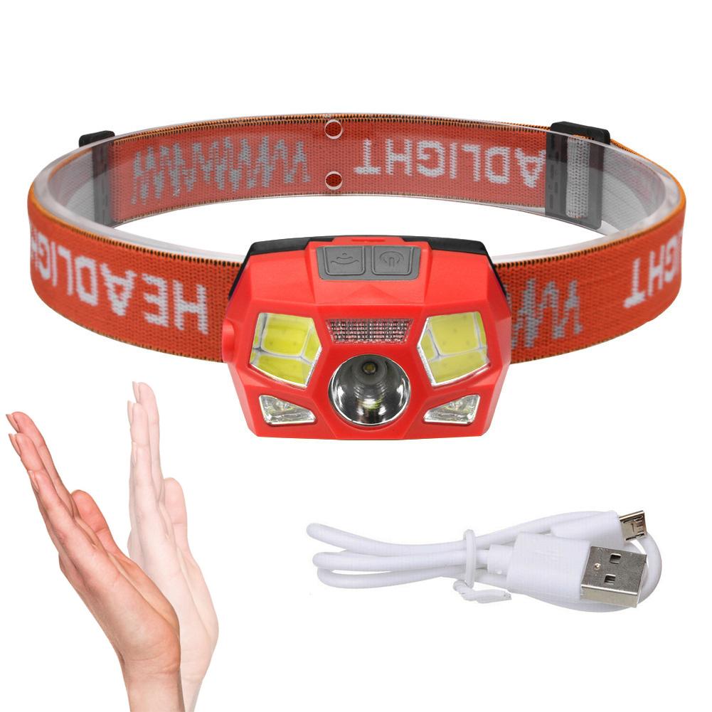 LED Stirnlampe 60000LM USB Wiederaufladbar Bewegungssensor Kopflampe