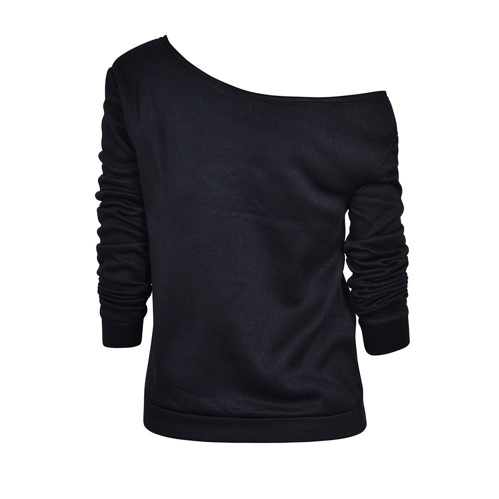 Womens-Long-Sleeve-Off-Shoulder-Warm-Sweatshirt-Pullover-Casual-Top-Shirt-Blouse thumbnail 18
