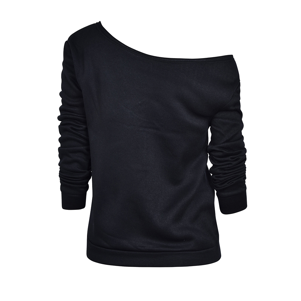 Womens-Long-Sleeve-Off-Shoulder-Warm-Sweatshirt-Pullover-Casual-Top-Shirt-Blouse thumbnail 24